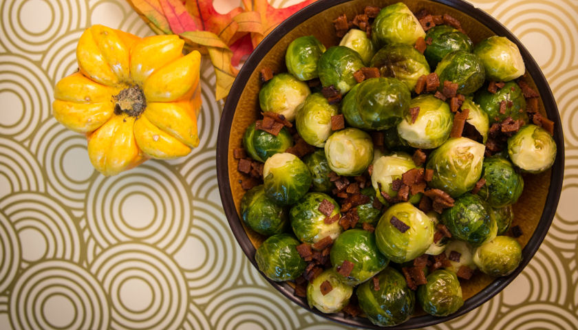 Smoked Tomato Brussels Sprouts